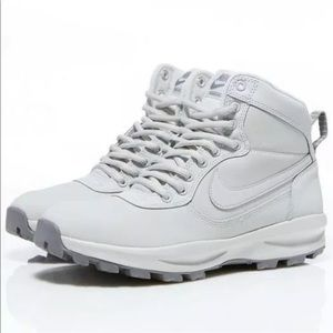 MENS NIKE MANOADOME LEATHER SNEAKER BOOTS